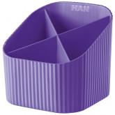 Suport pentru instrumente de scris, 4 compartimente, HAN X-Loop Trend-Colours - violet