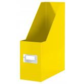 Suport vertical LEITZ WOW Click & Store, pentru documente, carton laminat, A4, galben