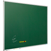 Tabla magnetica emailata, pentru creta 120 x 300 cm, profil aluminiu SL, SMIT