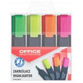 Textmarker varf lat, Office Products - 4 culori/set