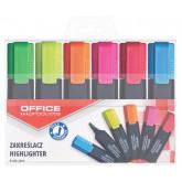 Textmarker varf lat, 6 culori/set, Office Products