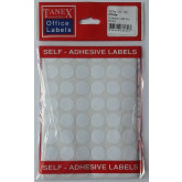 Etichete autoadezive albe, D16 mm, 480 buc/set, Tanex