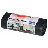 Saci menaj rezistenti  60L, 57 x 70cm, 20 microni, 20buc/rola, Office Products - negri
