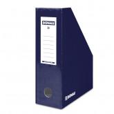 Suport vertical pentru cataloage, A4 - 10cm latime, din carton laminat, DONAU - bleumarin