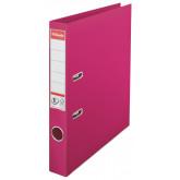 Biblioraft ESSELTE No. 1 Power, A4, plastifiat PP/PP, margine metalica, 50 mm - fuchsia