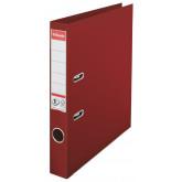 Biblioraft ESSELTE No. 1 Power, A4, plastifiat PP/PP, margine metalica, 50 mm - visiniu