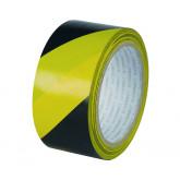 Banda adeziva 48mm x 20m, pentru avertizare, Q-Connect Safety Warning - negru/galben