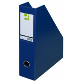 Suport reviste, carton plastifiat PVC, latime 76mm, Q-Connect - bleumarin