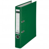 Biblioraft LEITZ 180, A4, plastifiat PP, margine metalica 52 mm - verde