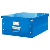 Cutie LEITZ Click & Store mare 369 x 200 x 484 mm, carton laminat - albastru