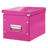 Cutie LEITZ Click & Store Cub, medie - roz