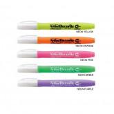 Marker ARTLINE Decorite, varf flexibil (tip pensula) - portocaliu neon