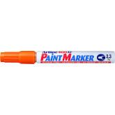 Marker cu vopsea ARTLINE 400XF, corp metalic, varf rotund 2.3mm - portocaliu