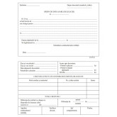 Ordin deplasare, format A5, 100 coli/carnet - orizontal
