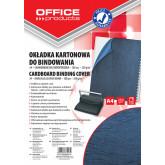 Coperta carton imitatie piele 250g/mp, A4, 100/top Office Products - bleumarin