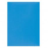 Mapa din carton plastifiat cu elastic, 300gsm, Office Products - bleu