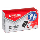 Clip hartie 25mm, 12buc/cutie, Office Products - negru