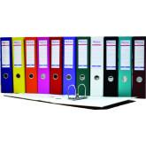Biblioraft A4, plastifiat PP/paper, margine metalica, 75 mm, Optima Basic - violet