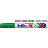 Permanent marker ARTLINE  90, corp metalic, varf tesit 2.0-5.0mm - verde