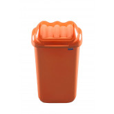 Cos plastic cu capac batant, capacitate 50l, PLAFOR Fala - portocaliu