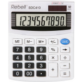 Calculator de birou, 10 digits, 125 x 100 x 27 mm, Rebell SDC 410 - alb
