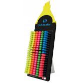 Display SCHNEIDER Job, 150 textmarkere -(50x galben, 30x verde, roz, 20x orange, 10x albastru, rosu)