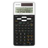 Calculator stiintific, 12 digits, 470 functiuni, 161x80x15 mm, dual power, SHARP EL-506TSWH - alb