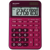 Calculator de birou, 10 digits, 149 x 100 x 27 mm, dual power, SHARP EL-M335BRD - rosu