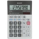 Calculator de birou, 10 digits, 152 x 100 x 33 mm, dual power, SHARP EL-M711GGY - gri